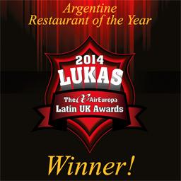 Winner Argentine Restaurant of the year 2014