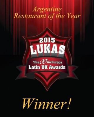 Winner Argentine Restaurant of the year 2015