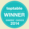 TopTable Winner Diners' Choice 2014