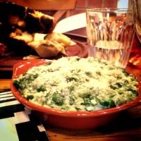 spinach béchamel sauce & cheese
